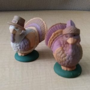 Vintage Turkey Salt & Peppers Shakers Plastic
